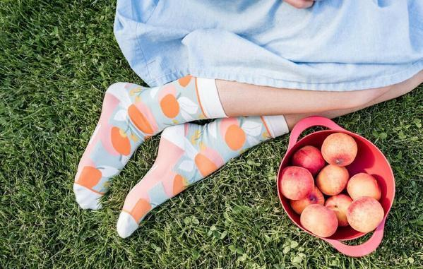 You Are A Peach Crew Socks