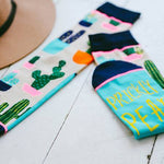 Prickly Pear Crew Socks