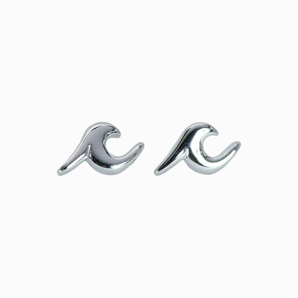 Wave Stud Earings | Silver