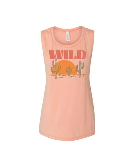 Sunset Chaser Women's Muscle Tank | Rose