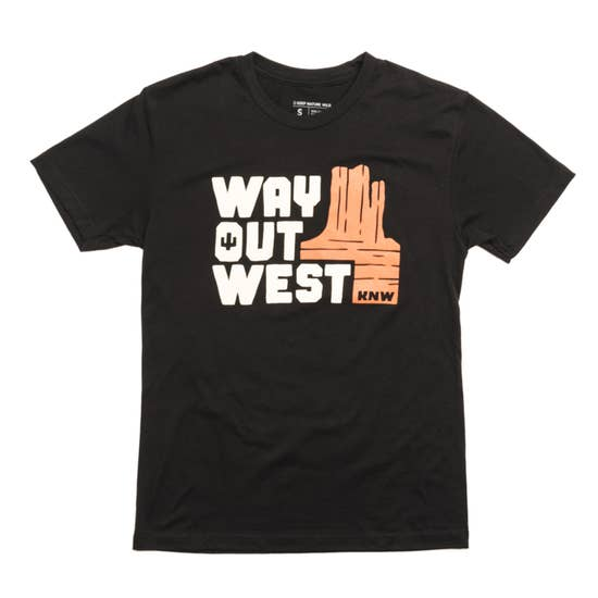Way Out West Unisex Tee | Black