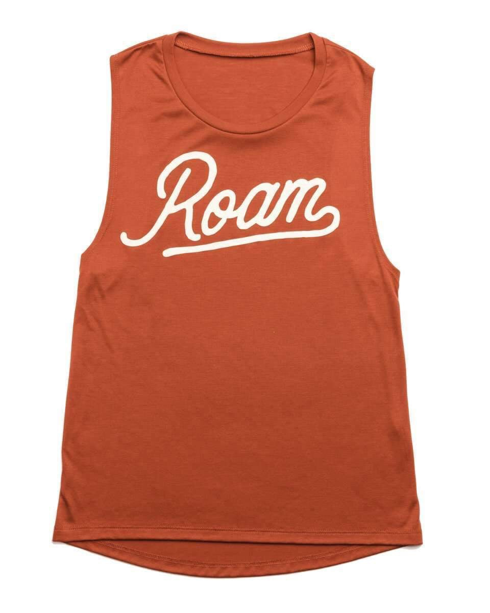 Roam Womens Muscle Tank| Sedona Red