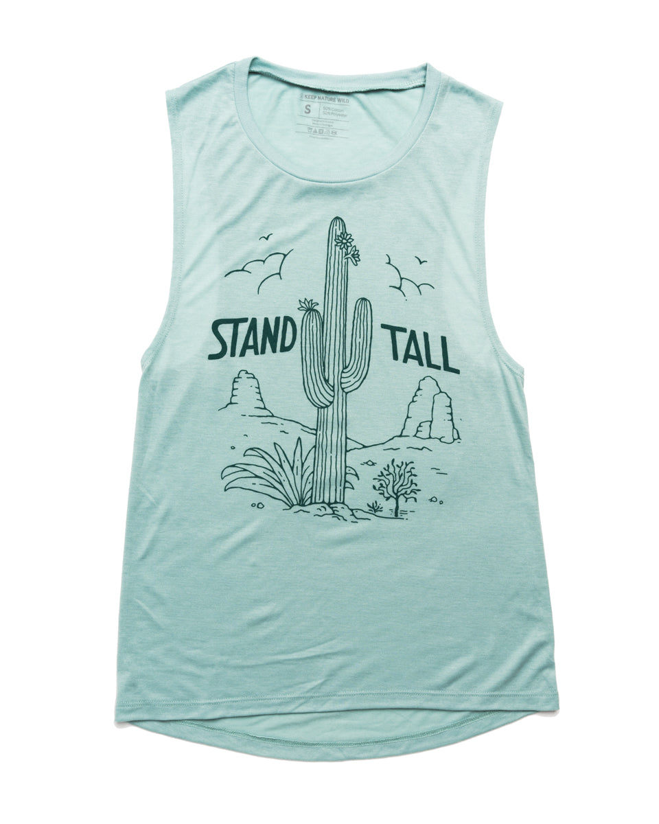 Stand Tall Cactus Womens Muscle Tank | Saguaro