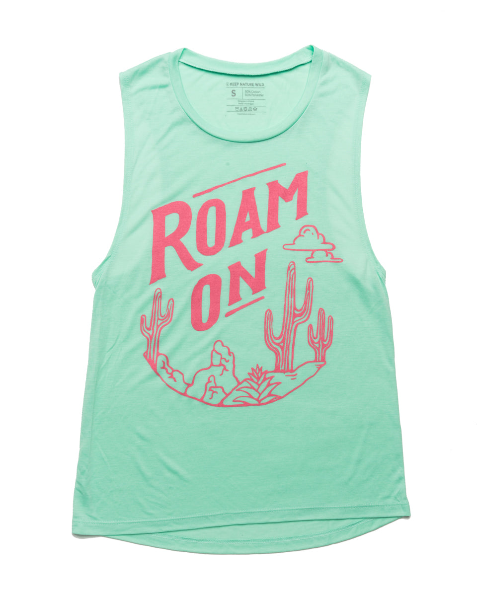 Roam On Muscle Tank | Cactus Blossom