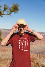 Arizona Wilderness Unisex Tee | Ember Red