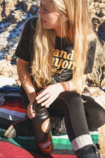 In the Canyon Unisex Tee | Vintage Black