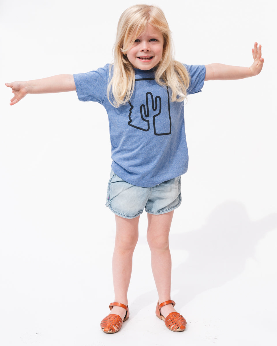 ZONA Toddler Tee | Heather Blue