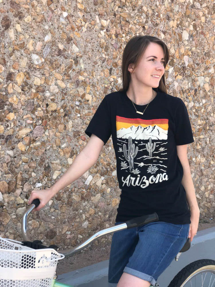 Arizona Sunset Unisex Tee | Black