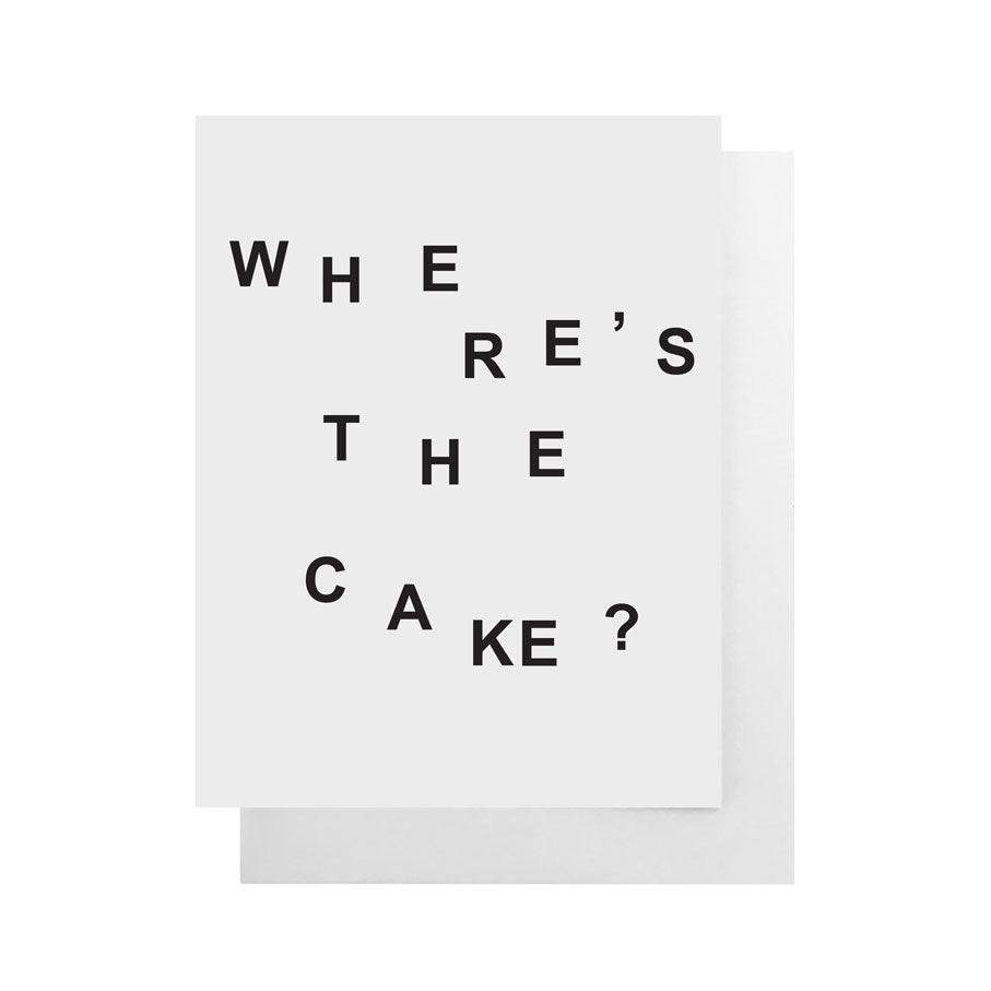 Where's The Cake Card