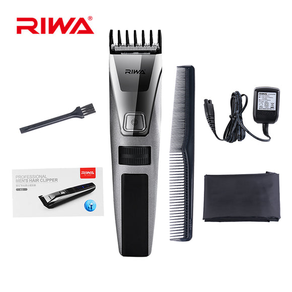 RIWA 100-240V Rechargeable Hair Clipper Trimmer Men Electric Shaver Razor LCD Beard Trimmer Grooming Shaving Machine Hair Trimer