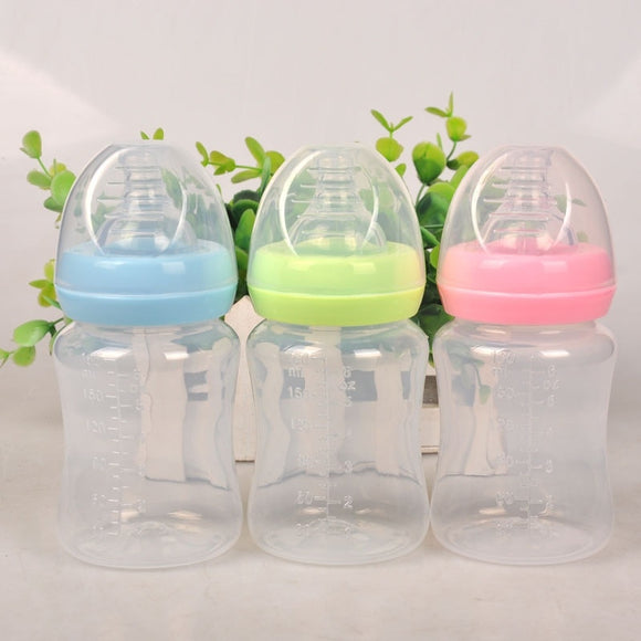 Newborn Baby, 180ml   Silicone Nipple ,Pacifier Drink Bottle
