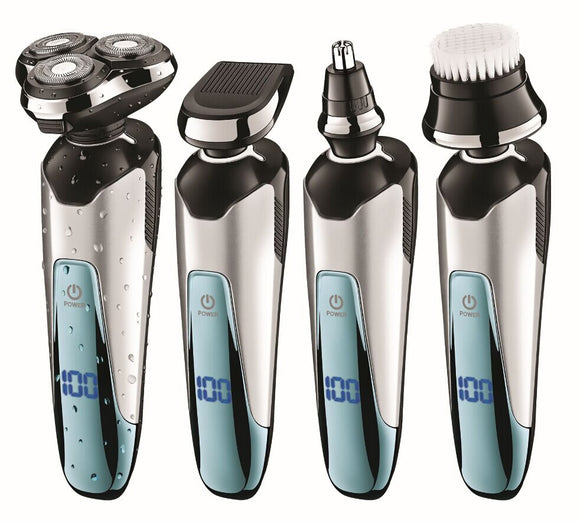 4in1 Rotate Shaver For Men Rechargeable Shaving Machine Electric Razor wet dry Facial Electric Shaver face nose ear grooming kit