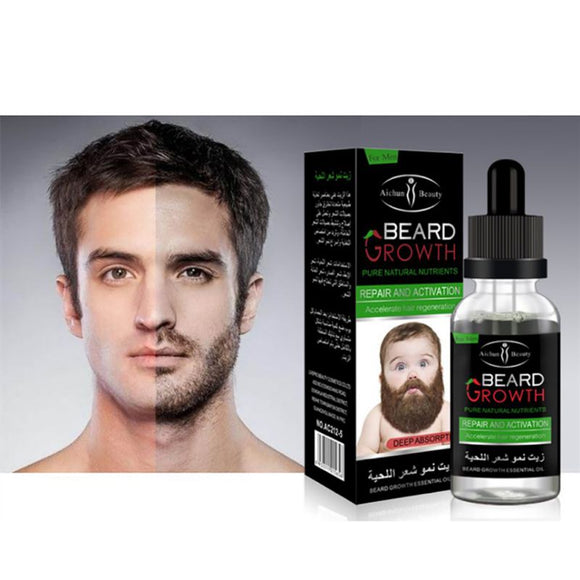 100% Natural Organic Beard Oil Men Beard Wax Hair Loss Products Leave-In Conditioner for Groomed Beard Growth 40ML