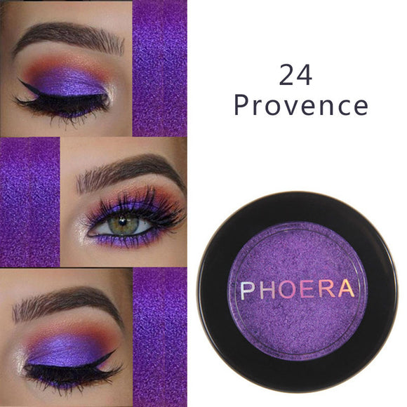 PHOERA 24 Clors Eyeshadow Eye Glitter Shimmer Natural Matte Palette Pigment Eyes Make Up Cosmetic festival face jewels TSLM1