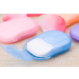 20pcs/lot Mini Disposable Washing Hand Soap Paper  Boxed Foaming Box skincare Travel Convenient