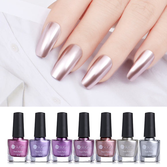 UR SUGAR, 6ml Mirror Effect Metallic Nail Polish, Purple, Rose, Gold, Silver and Chrome