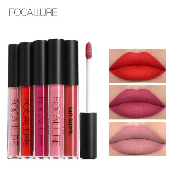 FOCALLURE 24 hour waterproof, sexy liquid Matte Lipgloss
