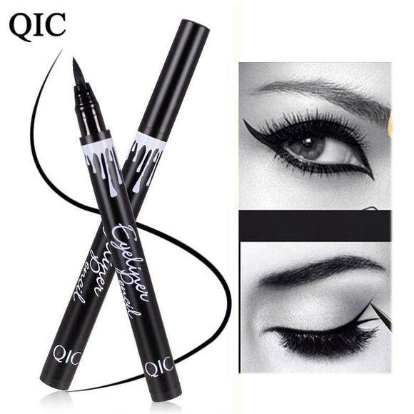 QIC Black Waterproof  cosmetic pencil eye liner