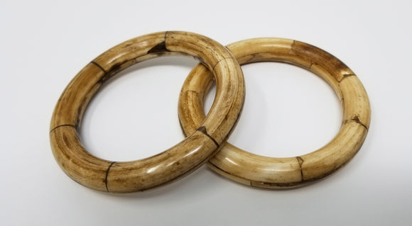 African Bone Bangles - set of two