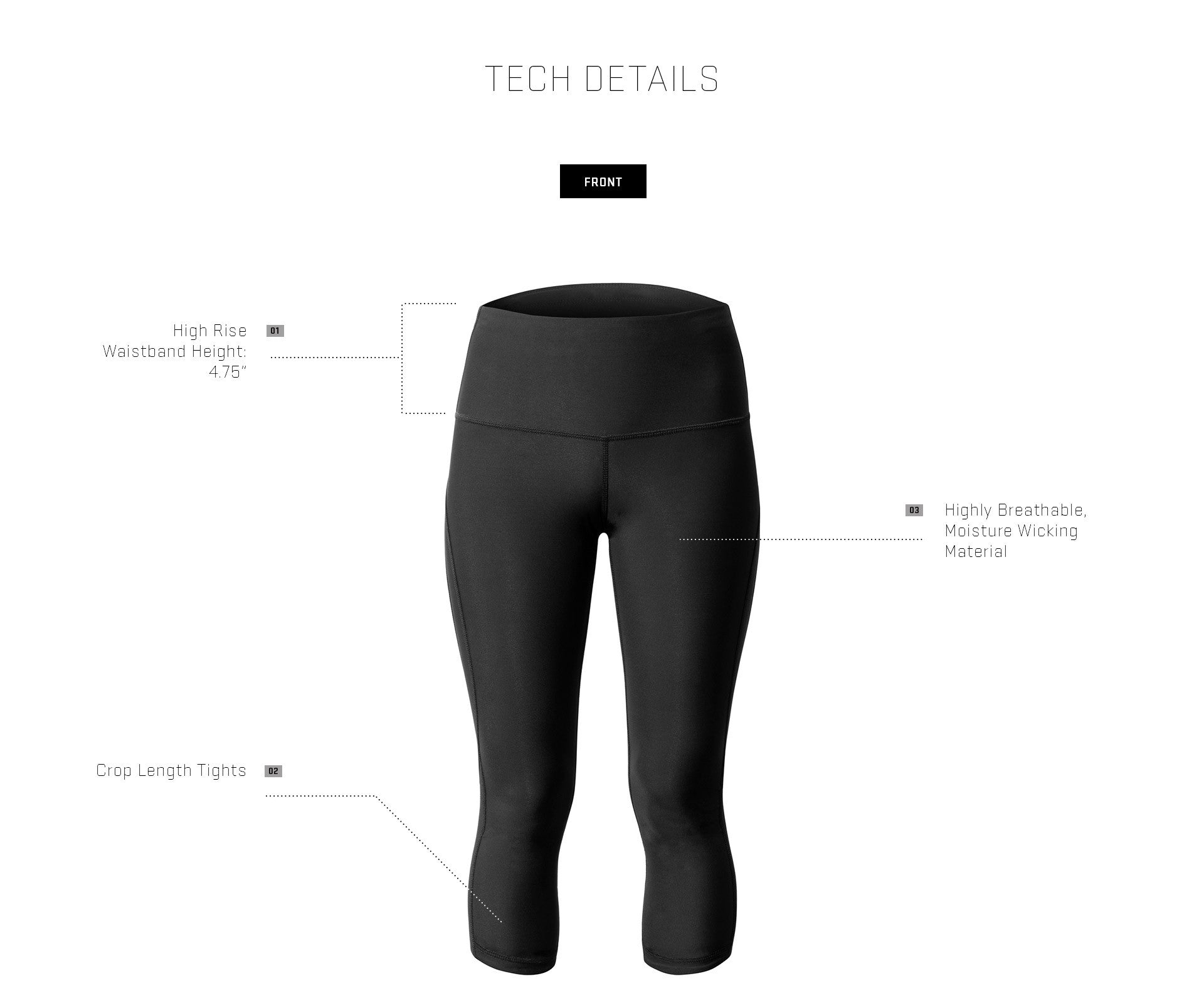 Crop Tight Tech Detail - Front