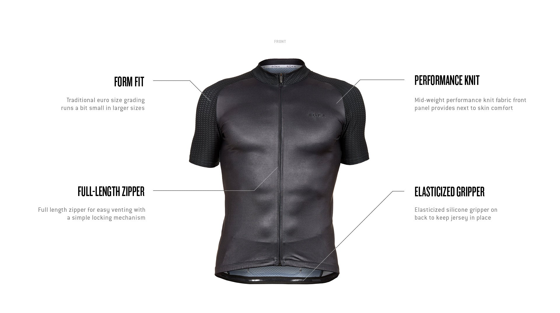 Men's Cycling All-Season Jersey Tech Callout Front