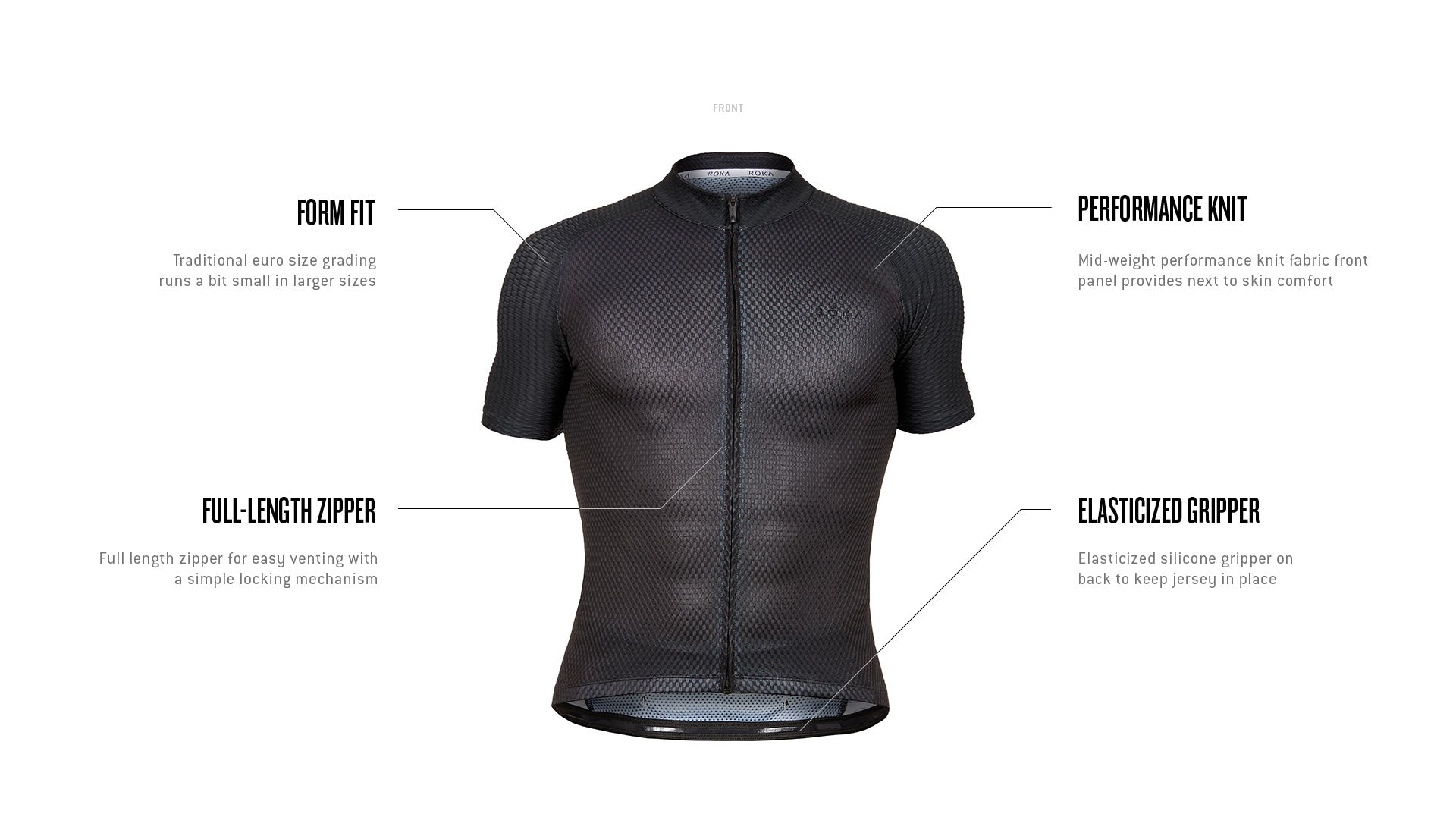Men's Cycling Pro Summer Jersey Tech Callout Front