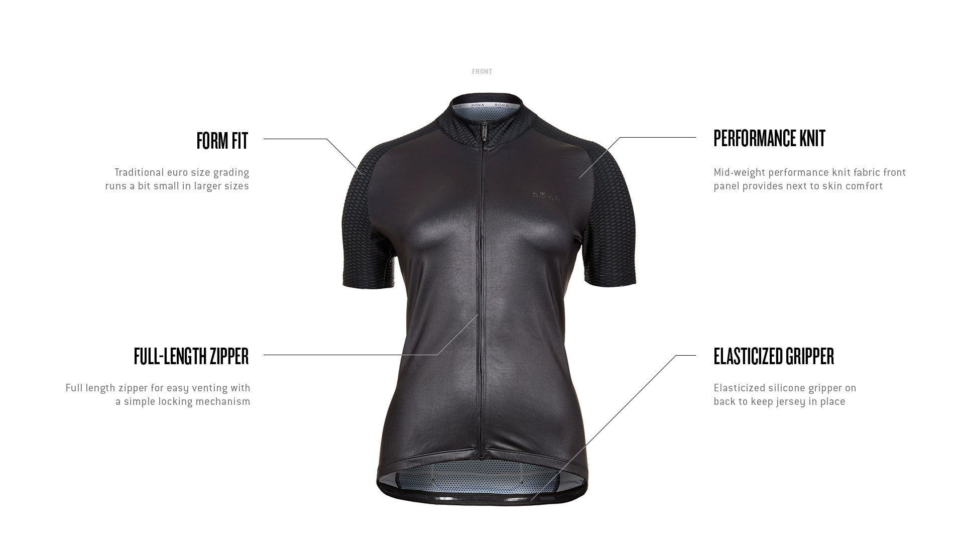 Women's Cycling All-Season Jersey Tech Callout