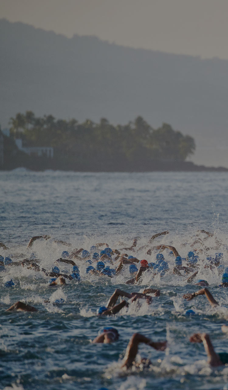 photo of ironman swimmers