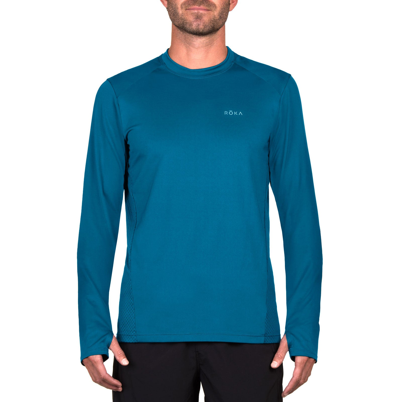 Men's Elite All-Season Run LS Shirt (Neptune)