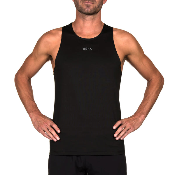 Men's Elite Race Run Singlet (Black/Dark Slate)