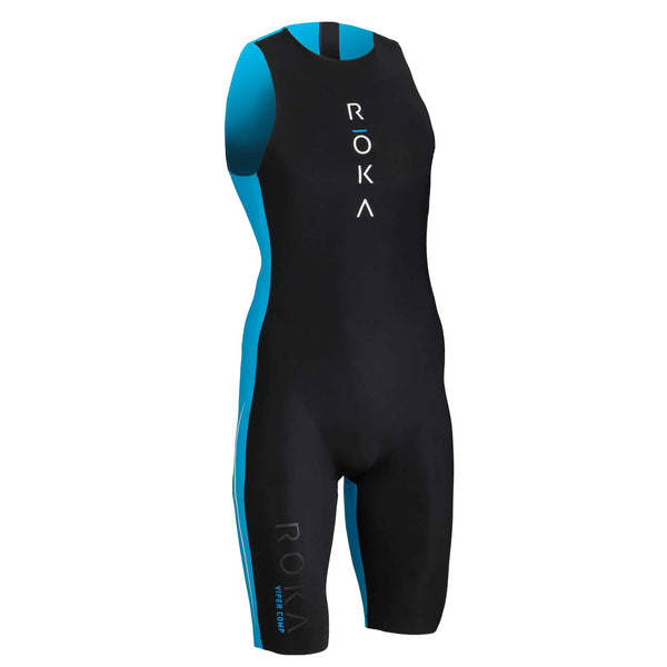 Men's Viper Comp Swimskin (Black/Cyan)