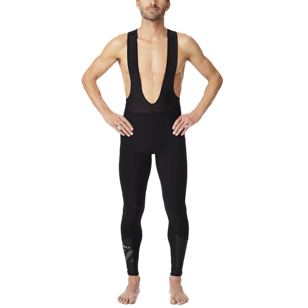Men's Cycling Pro Thermal Bib Tight (Black/Dark Slate)