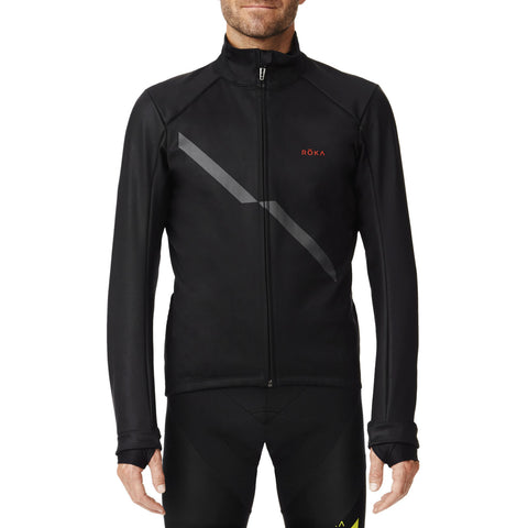 Men's Cycling Pro Softshell Jacket (Black/Dark Slate)