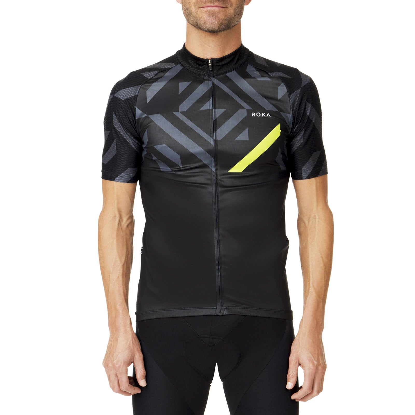 Men's Cycling Pro All-Season Jersey (Acid Lime) - ROKA