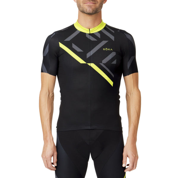 Men's Cycling Pro Race Jersey (Acid Lime)