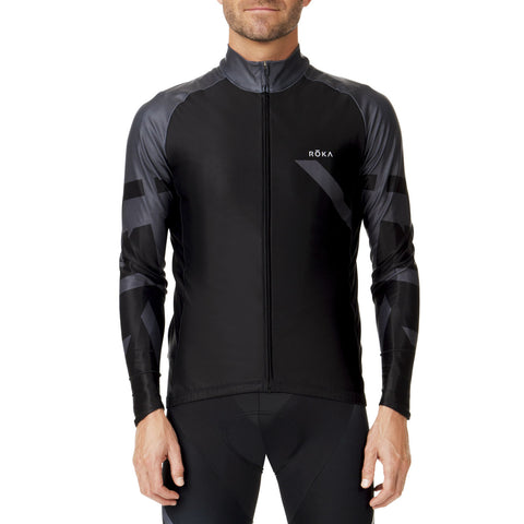 Men's Cycling Pro Thermal Jersey (Black/Dark Slate)