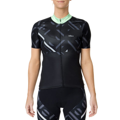 Women's Cycling Pro All-Season Jersey (Emerald) - ROKA