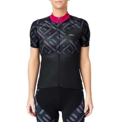 Women's Cycling Pro All-Season Jersey (Magenta)