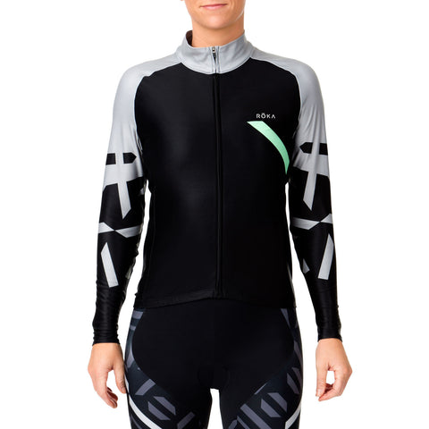 Women's Cycling Pro Thermal Jersey (Emerald) - ROKA