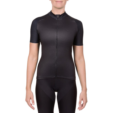 Women's Cycling Pro All-Season Jersey (Black)