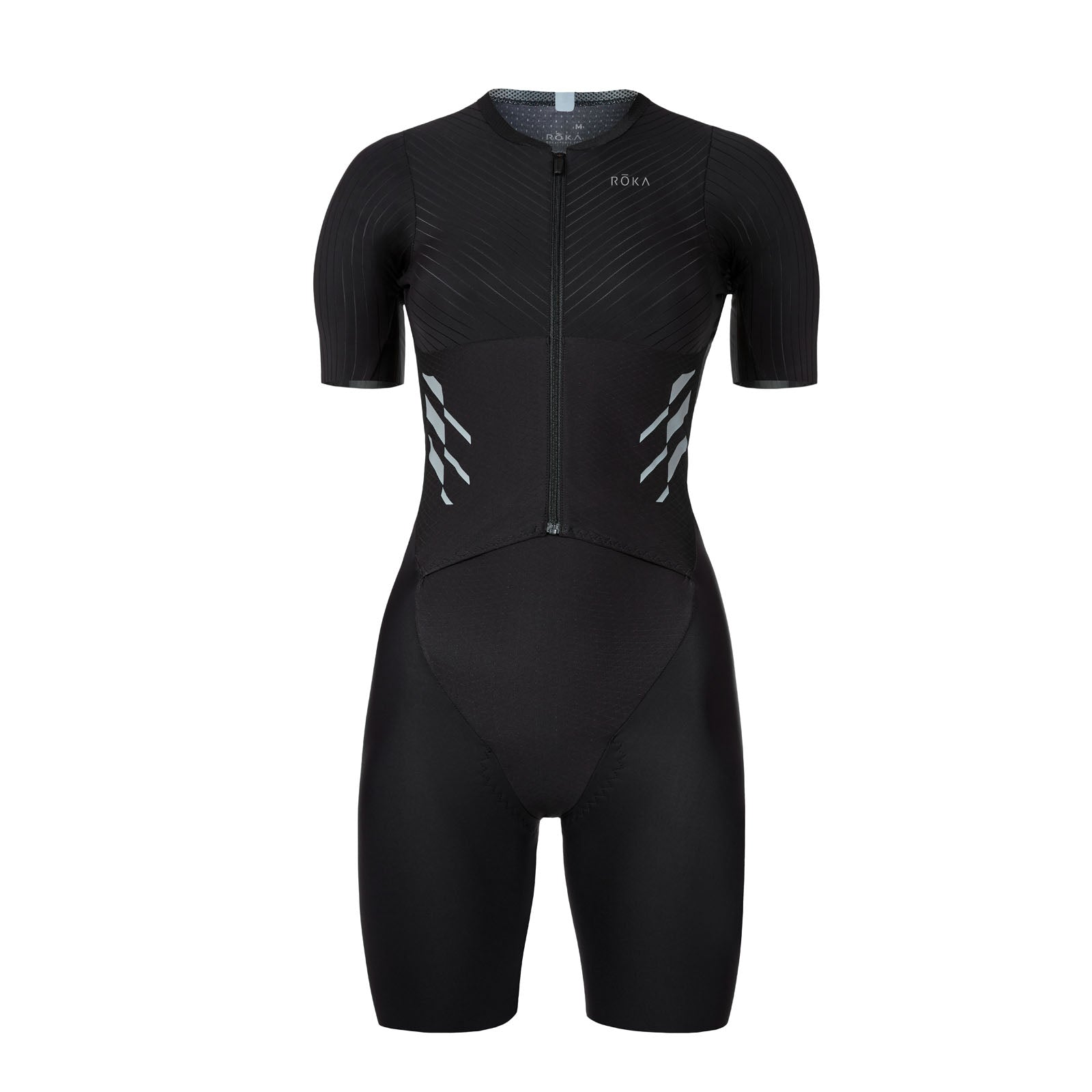 Women's Gen II Elite Aero Short Sleeve Tri Suit - Front View - Fastest Women's Tri Suit