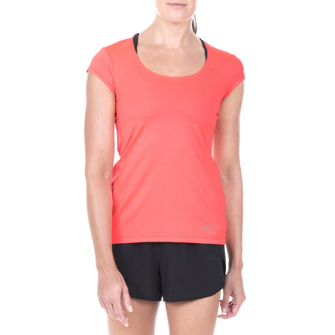 Women's Elite All-Season Run Cap Sleeve Shirt (Torch)
