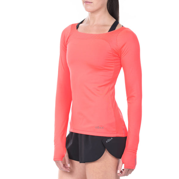 Women's Elite All-Season Run LS Shirt (Torch)