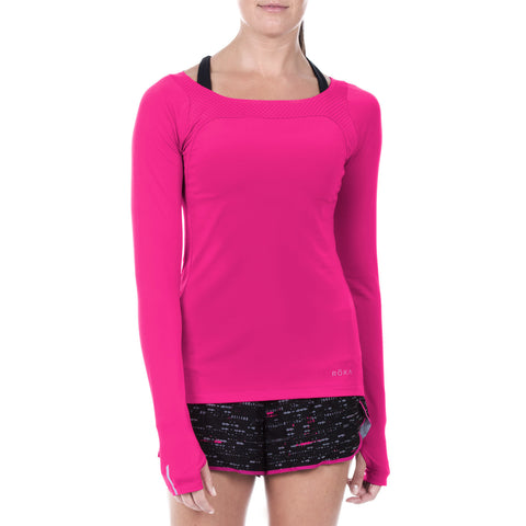 Women's Elite All-Season Run LS Shirt (Magenta)