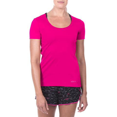 Women's Elite All-Season Run SS Shirt (Magenta)