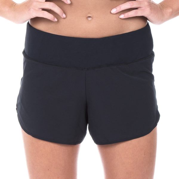 "Women's Elite 4"" Low Rise Run Short (Black)"