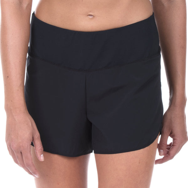 "Women's Elite 4"" Regular Rise Run Short (Black)"