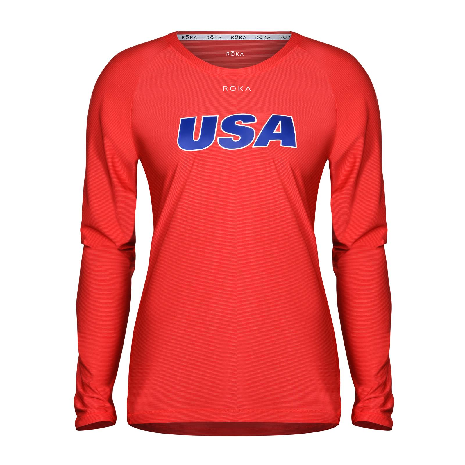 Women's USA Long-Sleeve Tech Tee - Red