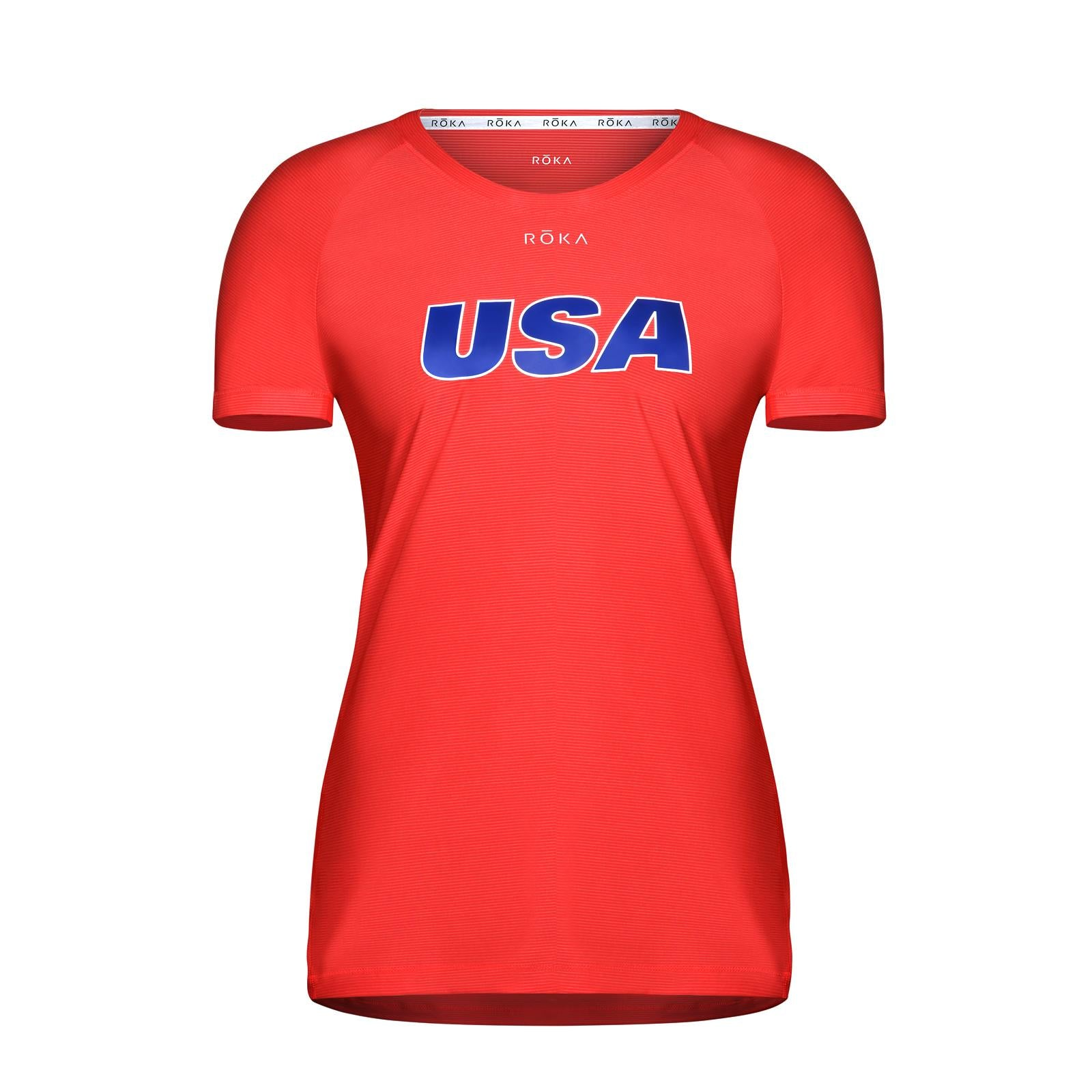 Women's USA Short-Sleeve Tech Tee - Red
