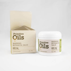 Primitive Oils™ | CBD Warming Botanical 4oz Salve 800mg